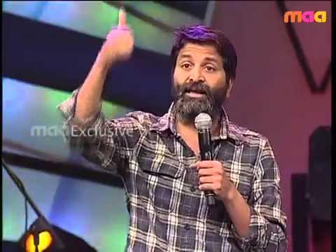 Emotional speech by Trivikram about Sirivennela   Maa  Awards     3 FLV