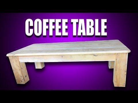 Tutorial Membuat Meja Tamu / Meja Makan ( Coffee Table ) Minimalis dari Kayu Bekas
