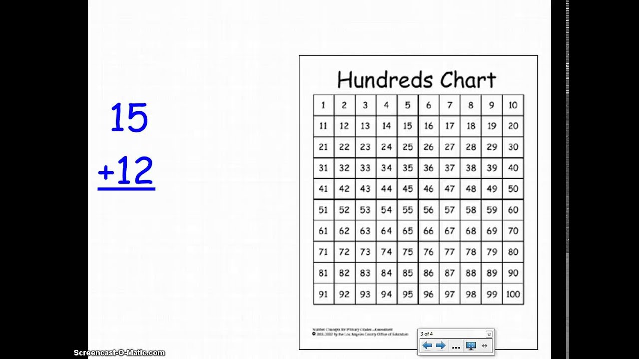 Lesson 5 2 Digit Addition With Hundreds Chart