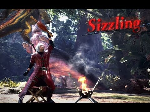 MHW Unique Animations Devil May Cry Dante Armor and Charge Blade