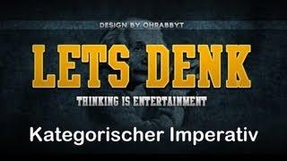 Immanuel Kant - Kategorischer Imperativ einfach erklärt [Ethik]   Let's Explain #1