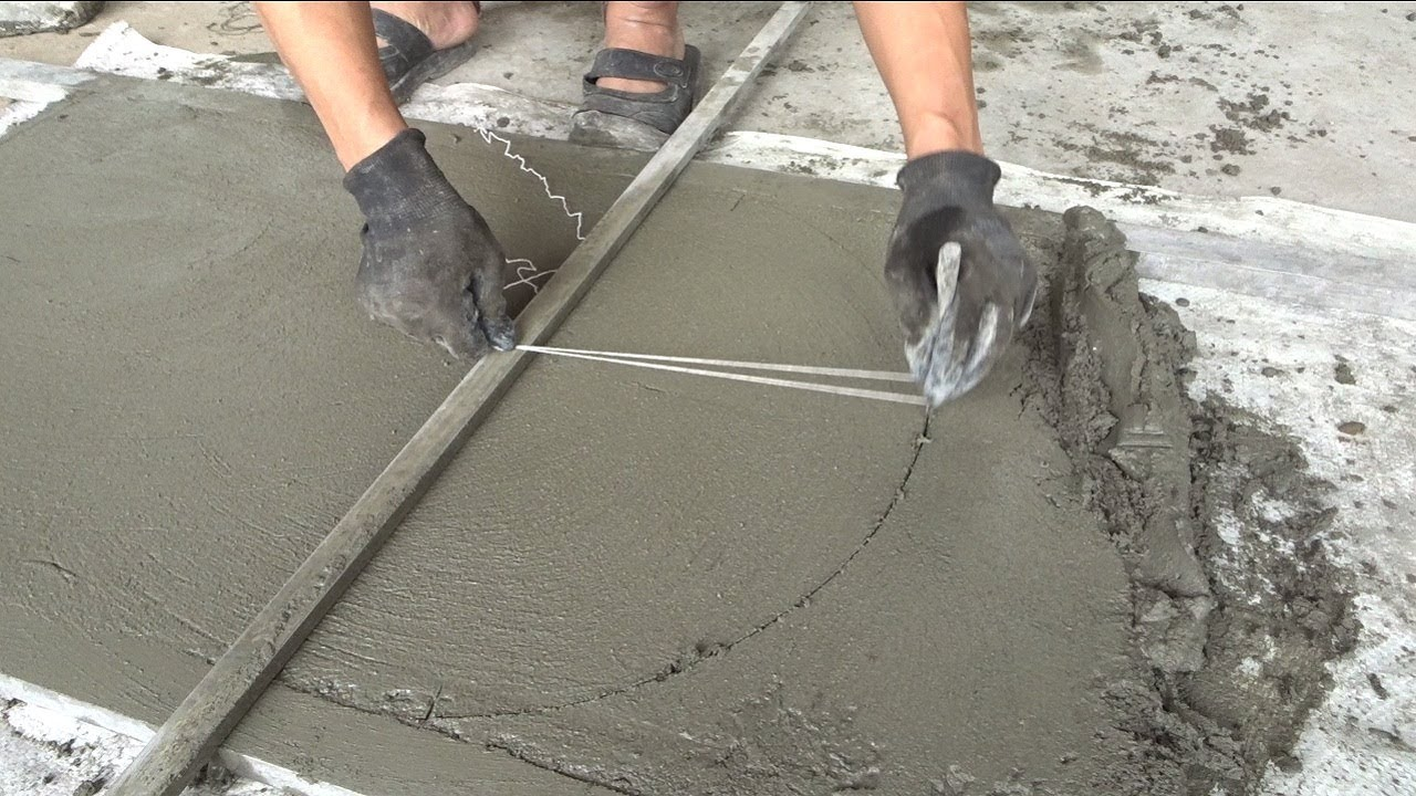 How to build cement properly