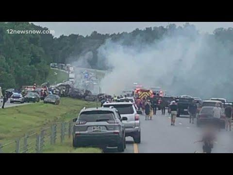 Download Multi-vehicle crash leaves 10 dead, 9 were children