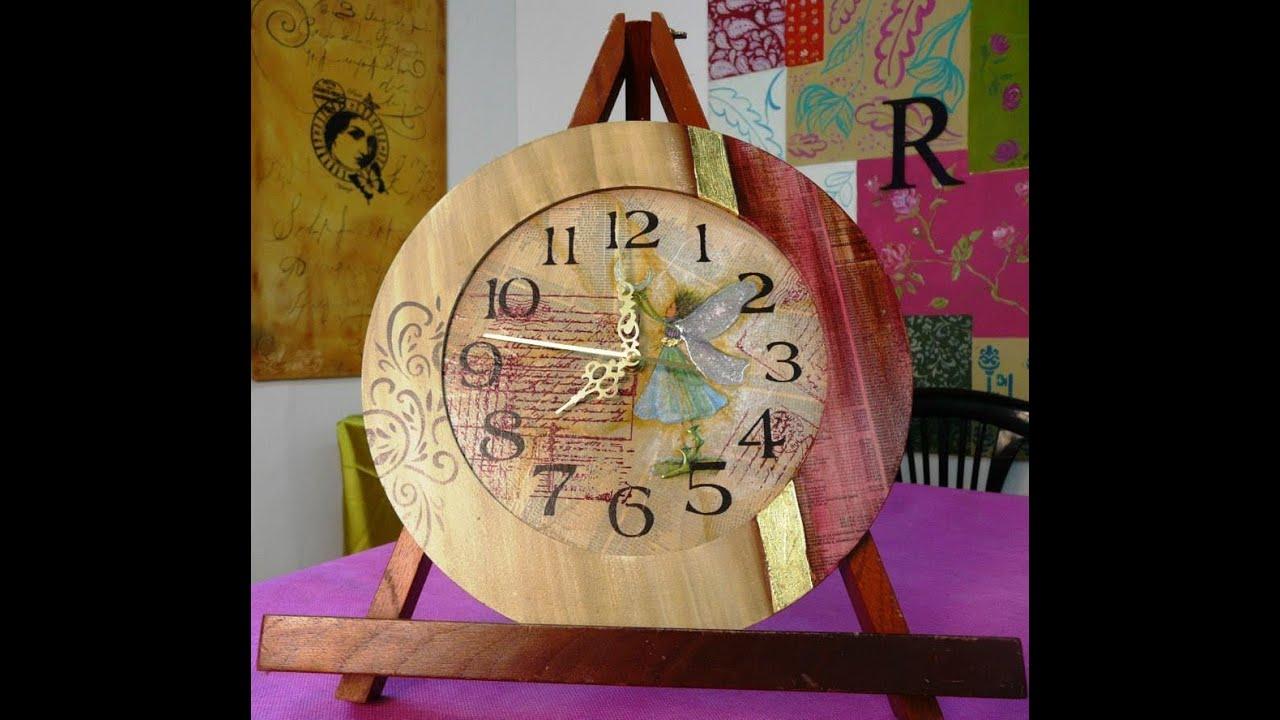 C mo hacer un reloj con diversos materiales 1ra parte - Reloj adhesivo de pared ...