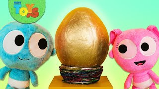 Giant Surprise Egg with GooGoo Baby | Opening Surprise Eggs with Toy Animals | Kinetic Sand for Kids
