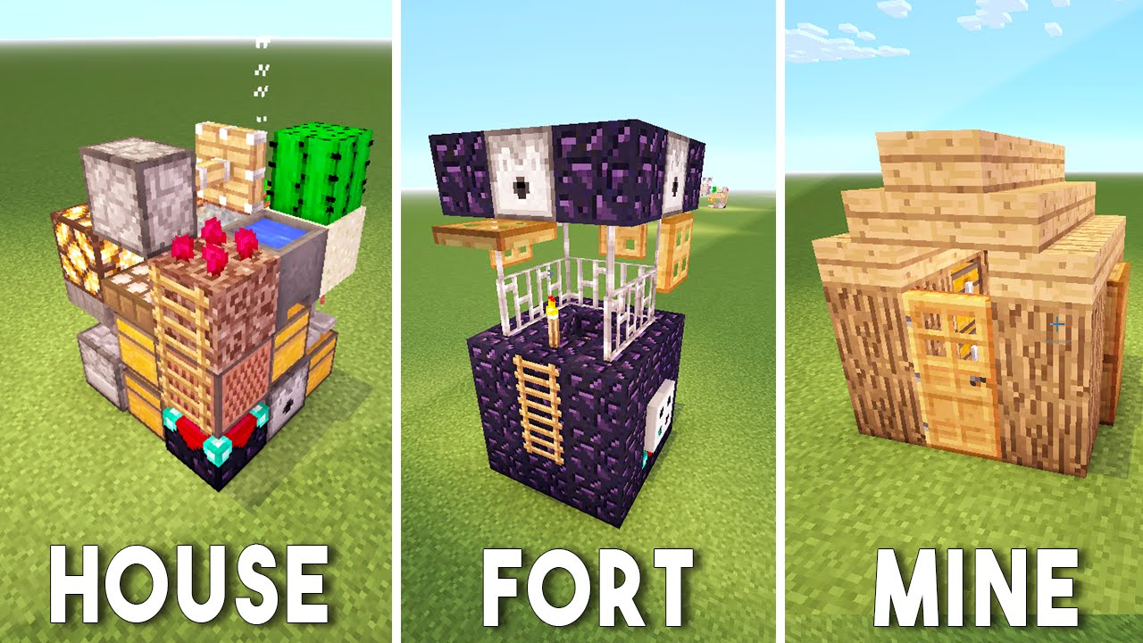 3 Small Pocket Buildings In Minecraft Command Block House