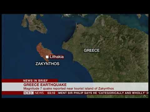 Magnitude 7 earthquake strikes (Greece) - BBC News - 26th