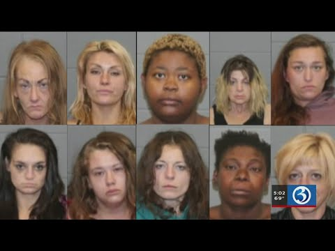 Video: 10 women arrested in prostitution sting