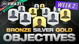 COMPLETING WEEK 2 BRONZE, SILVER & GOLD OBJECTIVES!! - FIFA 21