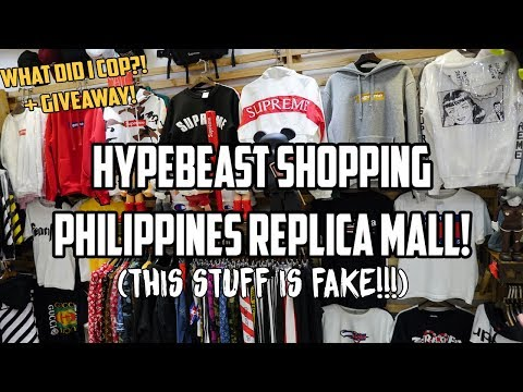 FAKE HYPEBEAST SHOPPING! FAKE SUPREME, OFF WHITE, BAPE, Fear of God and More! (Philippines)