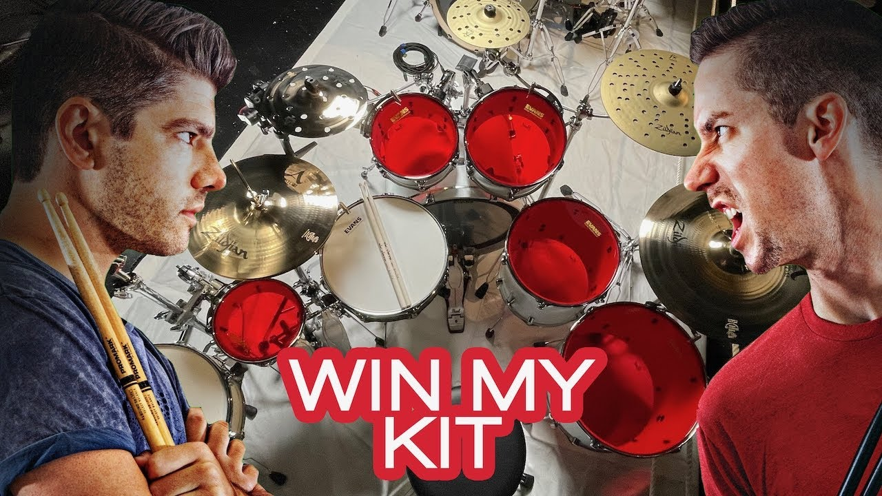 @Cobus DOESN'T WANT YOU TO WIN MY DRUM SET! HUGE @Pearl Drums @Sweetwater GIVEAWAY!