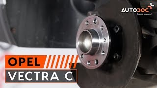 How to replace Brake rotors OPEL VECTRA C Tutorial
