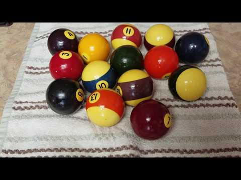 How to clean pool balls !!