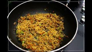 Cheesy Masala Maggi - Maggi Recipe - Indian Kitchen foods