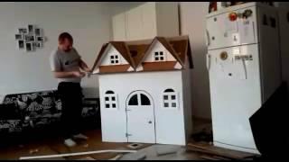 CardBoard PlayHouse HomeMade Kids  - Timelapse video