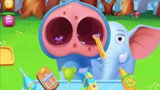 Fun DoctorAnimals Care  Games   Jungle Doctor treat the Elephant and the Fox  Gameplay for Baby