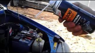 Чистка коллектора и РХХ  двигателя KIA Avella очистителем ICC300