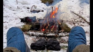 Solo Winter Cold Camp and Bushcraft - Ramona Lake, Western Uplands Trail, Algonquin Park