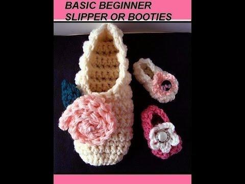 Free crochet pattern basic beginner slippers or booties how to free crochet pattern basic beginner slippers or booties how to make slippers dt1010fo