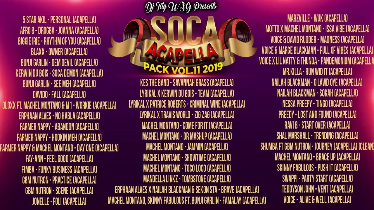 DJ TAY WSG SOCA ACAPELLA PACK VOL 11 2019