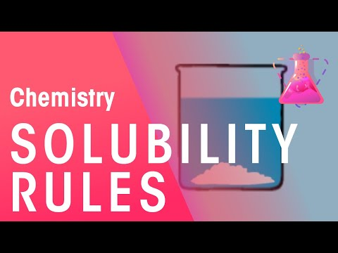 Solubility Rules | Acids, Bases & Alkali's | Chemistry | FuseSchool