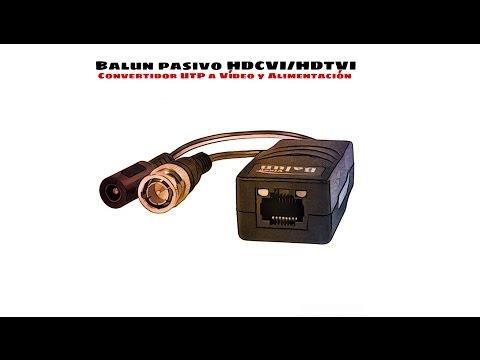 Video de Balun (Convertidor UTP a Video y alimentacion) Pasivo 2 Uds  Negro
