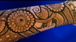 bridal Arabic full hand henna design || latest mehndi design 2020 || aaru mehndi