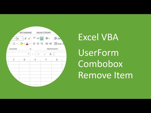 Excel VBA UserForm Combobox Remove Item