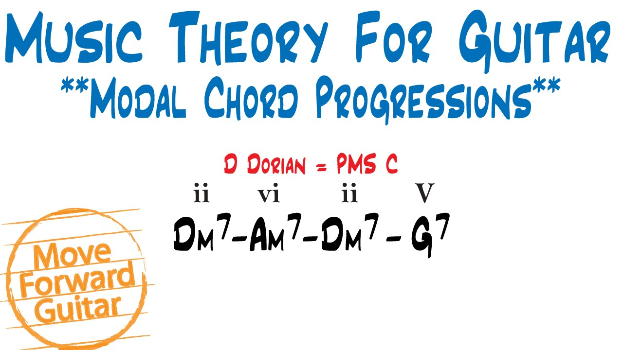 Music theory for guitar modal chord progressions youtube music theory for guitar modal chord progressions hexwebz Images