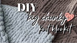 DIY Cozy, Chunky Knit BLANKET!