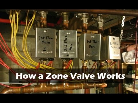 How a Zone Valve Works  Hot Water Heating  YouTube