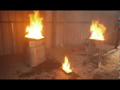 Testing of Aerosol Fire Extinguisher for 100m³ room