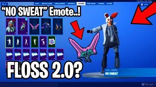 *NEW* FLOSS 2.0 (NO SWEAT) Emote LEAKED! Combo Cleaver Pickaxe! - Fortnite