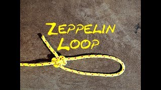 Zeppelin Loop or Zeppelin Eye Knot - One of a few Knots used in Bungee Jumping