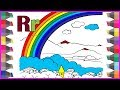 ABC Alphabet Coloring Pages | Learning Letter A to Z Coloring Pages For Kids Baby | R for Rainbow