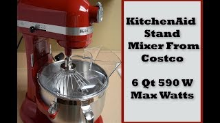 KitchenAid Stand Mixer From Costco 6 Qt 590 Max Watts | Fatma Ceylan