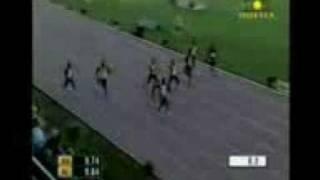 asfa powell 100m sprint world record