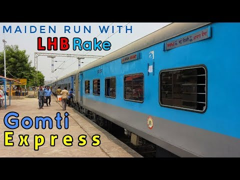 KANPUR To PHAPHUND : A Short Journey In The Maiden Run Of GOMTI Express With LHB Rake