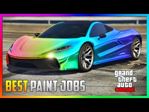 GTA 5 Online - TOP 5 Best RARE Paint Jobs & SEXY Crew Car Color Schemes! (GTA 5 Paint Jobs)
