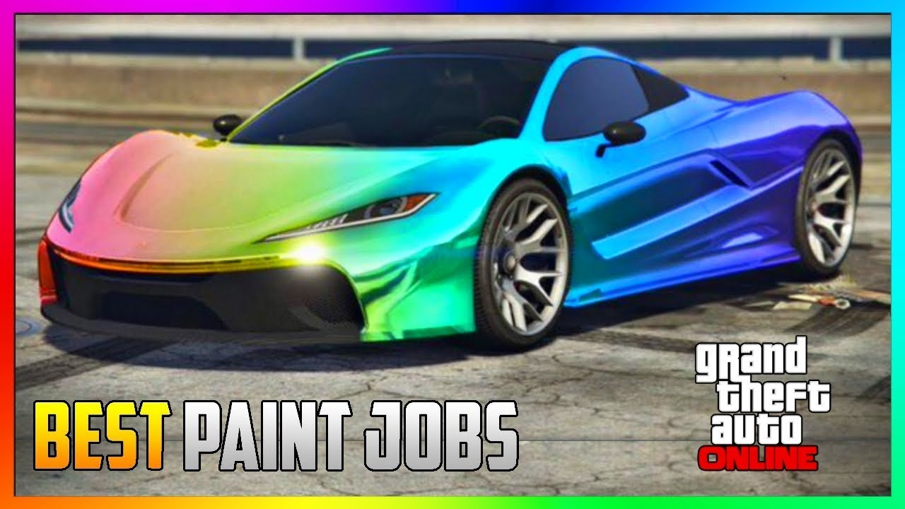 GTA 5 Online   TOP 5 Best RARE Paint Jobs U0026 SEXY Crew Car Color Schemes!  (GTA 5 Paint Jobs)