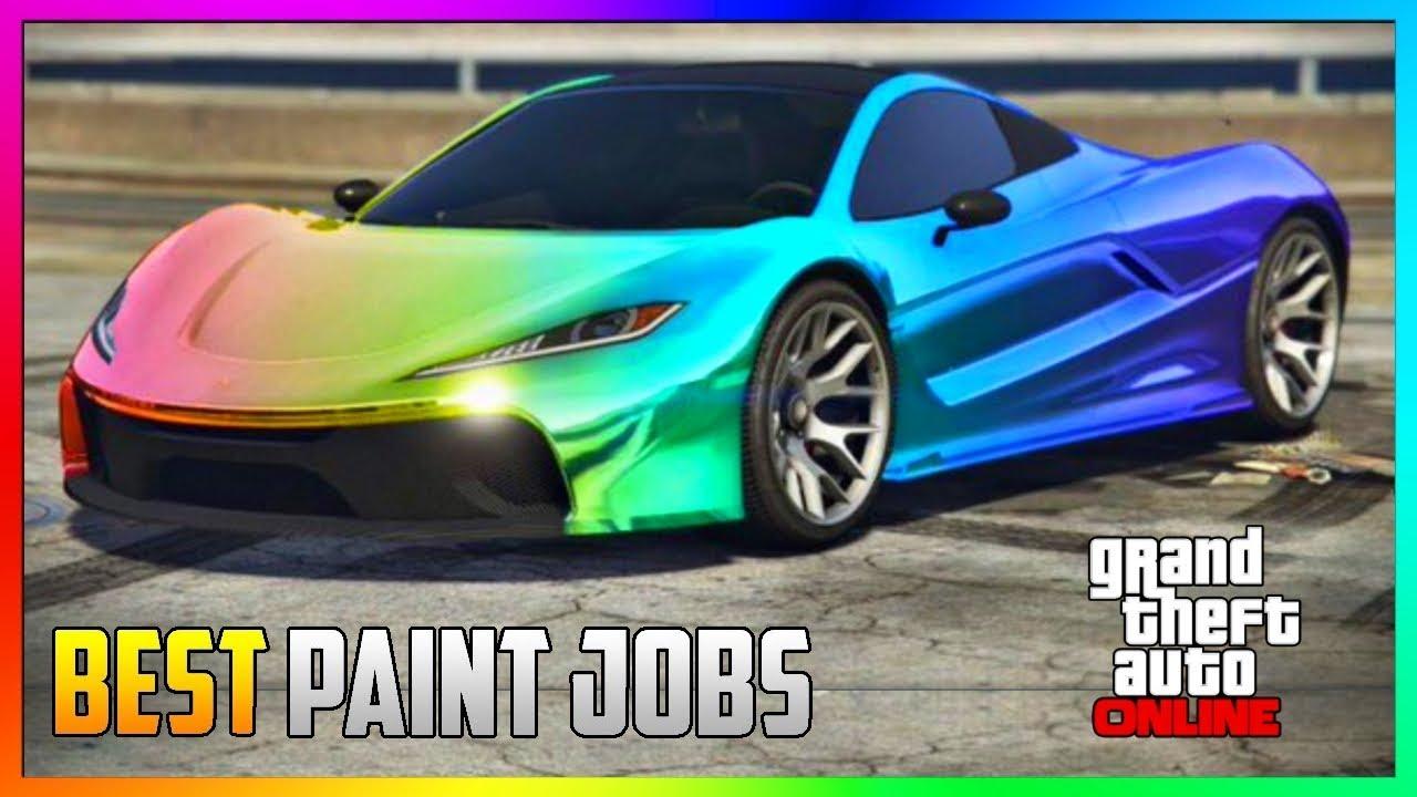 GTA 5 Online - TOP 5 Best RARE Paint Jobs & SEXY Crew Car ...