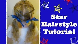 Star Hairstyle Tutorial, How To Make A Braided Star