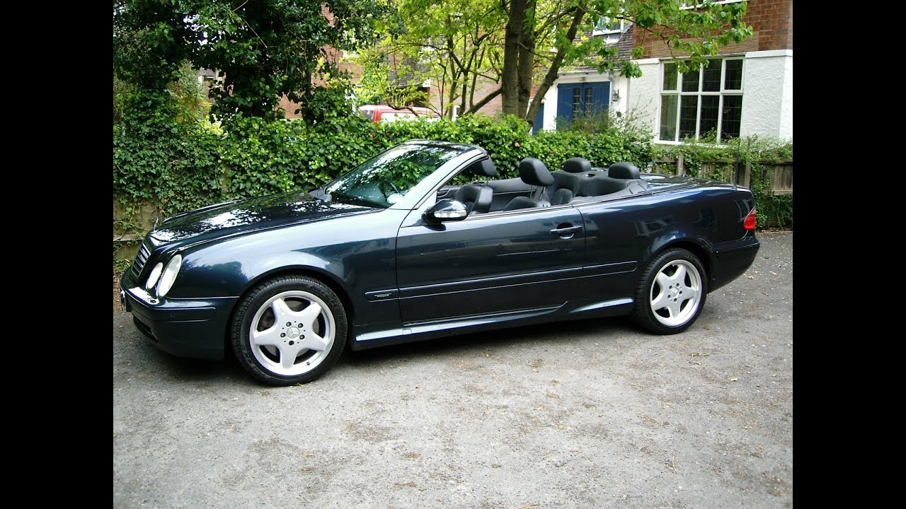immaculate 2000 mercedes 430 clk amg convertible glorious v8 power youtube. Black Bedroom Furniture Sets. Home Design Ideas