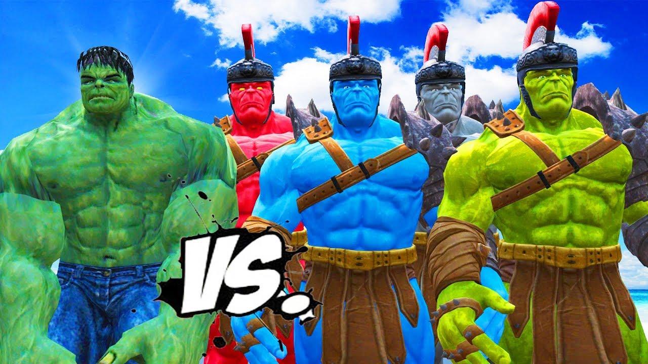 the incredible hulk vs red hulk blue hulk grey hulk