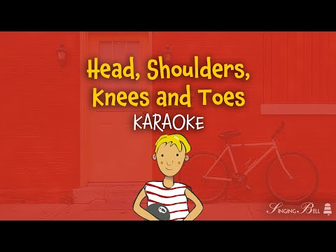 Head, Shoulders, Knees and Toes (instrumental - lyrics video for karaoke)