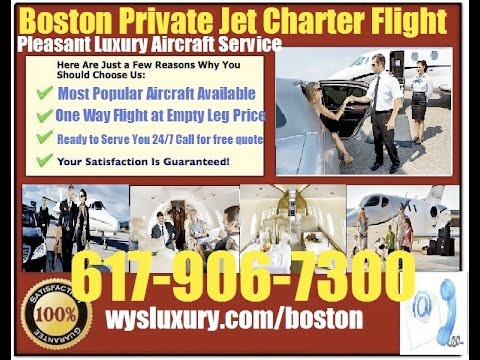 Private Jet Charter Flight From or To Bedford, Worcester, Springfield, Boston MA
