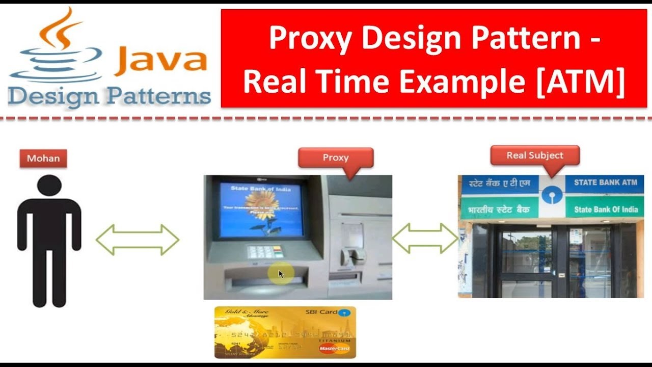 Proxy Design Pattern Real Time Example Atm Youtube