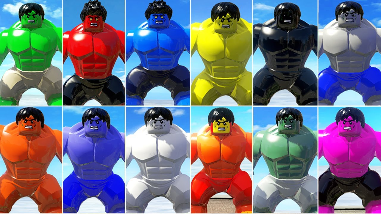 All Hulk COLORS in LEGO VideoGames