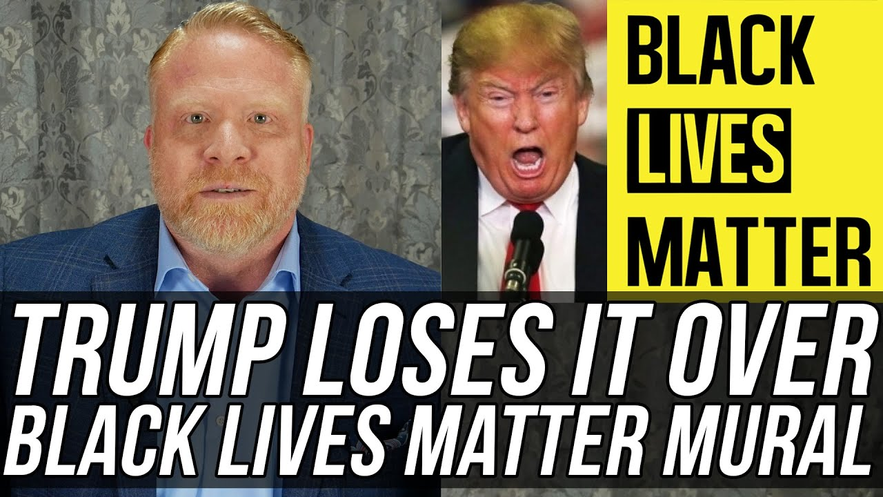 Donald Trump is FREAKING OUT About Black Lives Matter Being Painted on Street Outside Trump Tower!