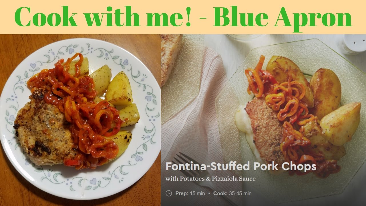 Blue apron pork chops